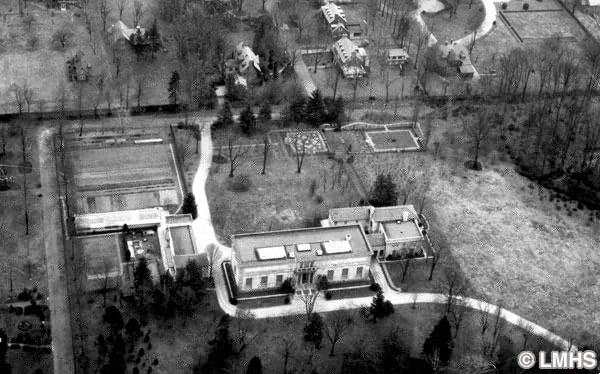 Barnes Foundation Property, Merion-Aerial View - Photograph