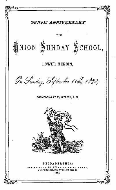 Sunday School Book Cover : Union sunday school